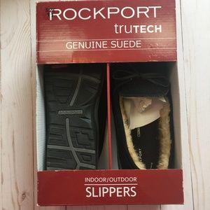 ROCKPORT truTECH Suede Indoor|Outdoor Slippers 11